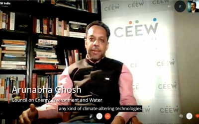 Governing Emerging Marine Climate-Altering Techniques – Arunabha Ghosh