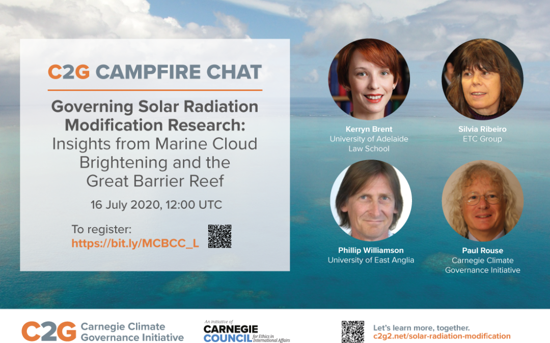 Campfire Chat: Governing SRM Research: Insights from Marine Cloud Brightening and the Great Barrier Reef